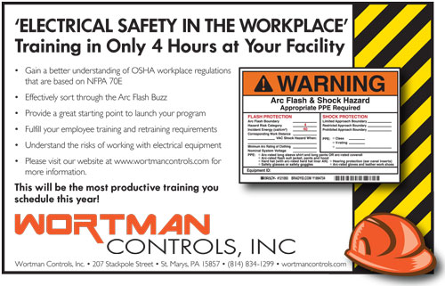 Electrical Safety Training  Wortman Industrial Controls  St Marys Pa